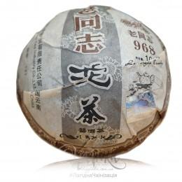 Шу пуэр Хайвань Лао Тун Чжи 968 / 2012 г / точа 100 грамів | RU