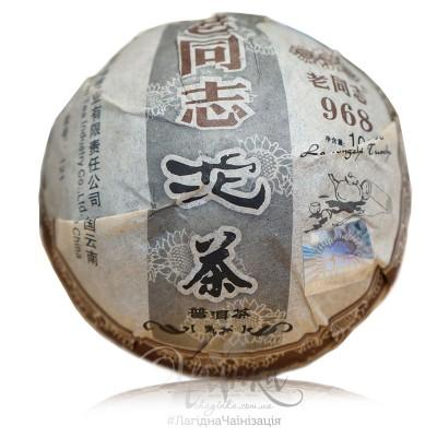 Шу Пуер ⭐ Хайвань Лао Тун Чжи ⭐ 968 / 2012 р / точа 100 грамів