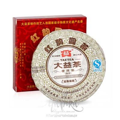 Шу Пуер ⭐ Червона мелодія ⭐ 2012 р, фабрика Менхай Да І, рецепт 201, диск 100 гр