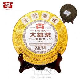 Шу Пуер «Золоті голки і білий лотос» 2014 р, фабрика Менхай Да І, рецепт 1401, млинець 357 гр