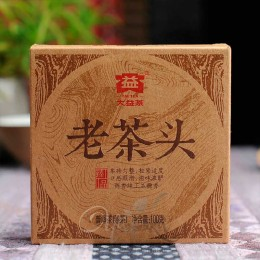 Шу Пуер Лао Ча Тоу (Старі чайні голови) 2014 р, фабрика Менхай Да І, рецепт 1401, плитка 100 гр