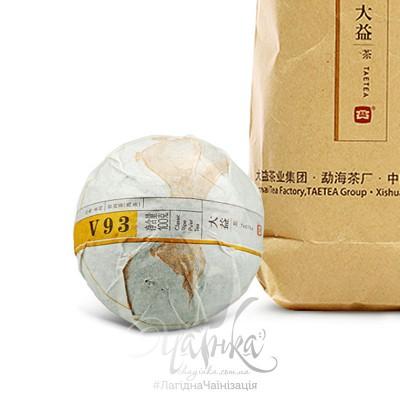 Китайський чай Шу Пуер Менхай Да Ї V93 2017 року, 100 грамм