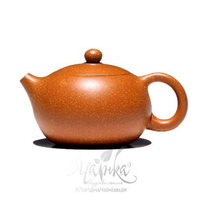 Ісінський чайник ⚡ заварювальний глиняний, форма Сі Ши, 110 мл