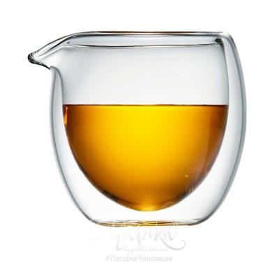 Чахай скляний двостінний ★ «Совеня» (180 мл)