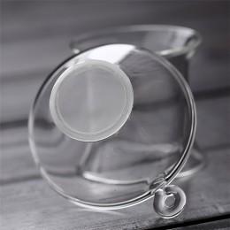 Чайне ситечко (скляне) з підставкою