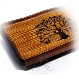 """Чабань ручної роботи """"Дерево Життя"""", сосна 45х25х9 см"""